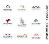 set of real estate logo... | Shutterstock .eps vector #610202504