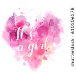 baby gender reveal concept... | Shutterstock .eps vector #610206278