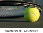 tennis ball and racket on the... | Shutterstock . vector #61020634