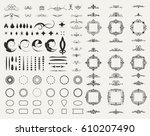 circle and square wicker... | Shutterstock .eps vector #610207490