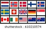 vector flags of countries with... | Shutterstock .eps vector #610210574