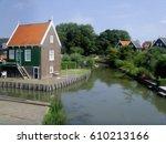 marken houses  holland  oil... | Shutterstock . vector #610213166