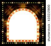 abstract shining retro light... | Shutterstock .eps vector #610215800