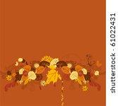 creative autumn background  ... | Shutterstock .eps vector #61022431