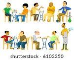 cafe goers in egypt | Shutterstock . vector #6102250
