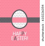 easter illustration. on a pink... | Shutterstock .eps vector #610226354