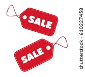 set of tags. | Shutterstock .eps vector #610227458
