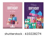 happy birthday to you greeting... | Shutterstock .eps vector #610228274
