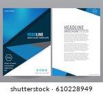 abstract vector modern flyers... | Shutterstock .eps vector #610228949