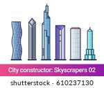 abstract city constructor in... | Shutterstock .eps vector #610237130