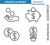 finance   money icons.... | Shutterstock .eps vector #610248419