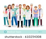hospital team. medical staff... | Shutterstock .eps vector #610254308