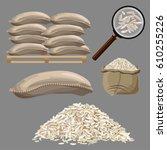 set of vector illustrations... | Shutterstock .eps vector #610255226