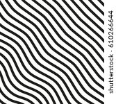 black and white striped lines.... | Shutterstock .eps vector #610266644