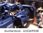 television broadcast from the... | Shutterstock . vector #610269038