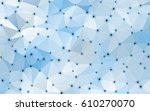 abstract blue geometric crystal ... | Shutterstock .eps vector #610270070