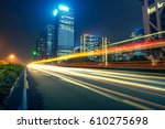 the traffic light trails of city | Shutterstock . vector #610275698