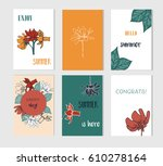 set of artistic creative summer ... | Shutterstock .eps vector #610278164