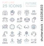 set  line icons in flat design... | Shutterstock . vector #610281833