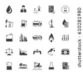 set black icons and symbols on... | Shutterstock . vector #610281980