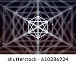 magic hexagon symbol spreads... | Shutterstock .eps vector #610286924
