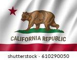 waving flag of california... | Shutterstock .eps vector #610290050