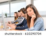 portrait of beautiful and...   Shutterstock . vector #610290704