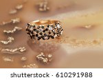 elegant jewelry rings with... | Shutterstock . vector #610291988