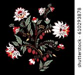 stock vector abstract hand draw ... | Shutterstock .eps vector #610293878