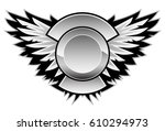 logo wing vector graphic with a ... | Shutterstock .eps vector #610294973