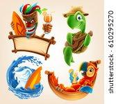 summer vector cartoon | Shutterstock .eps vector #610295270