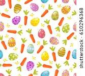easter seamless background.... | Shutterstock .eps vector #610296368