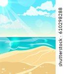 summer landscape. sea  sunny... | Shutterstock .eps vector #610298288