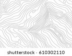 topographic map background... | Shutterstock .eps vector #610302110