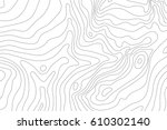 topographic map background... | Shutterstock .eps vector #610302140