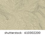 topographic map background... | Shutterstock .eps vector #610302200