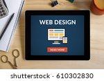 web design concept on tablet...
