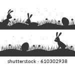 easter background with bunnies...
