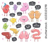 vector illustration set of... | Shutterstock .eps vector #610310198