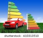 3d illustration of car over... | Shutterstock . vector #610313510
