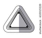 sticker silhouette triangle... | Shutterstock .eps vector #610315220