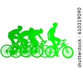 silhouettes of racers on a... | Shutterstock .eps vector #610319090