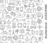 seamless pattern with traveling ...   Shutterstock .eps vector #610319480