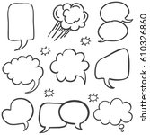 text balloon style hand draw...   Shutterstock .eps vector #610326860