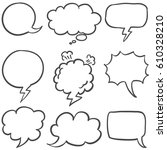set of text bubble collection