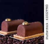 chocolate cake  tiramisu cake... | Shutterstock . vector #610329983