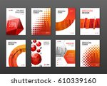 corporate brochure cover design ... | Shutterstock .eps vector #610339160