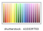 color palette. color shade... | Shutterstock .eps vector #610339703