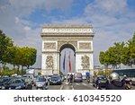 paris  france   september 25 ...   Shutterstock . vector #610345520