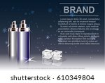 cosmetic product  spray bottle  ... | Shutterstock .eps vector #610349804